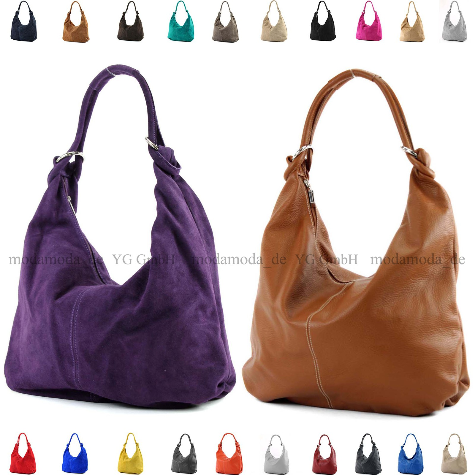modamoda de - ital. Ledertasche Damentasche Hobo Bag ...