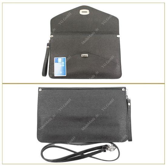 ital clutch handtasche schultertasche tragetasche echt. Black Bedroom Furniture Sets. Home Design Ideas